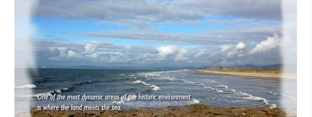 View from Sker Point looking west along Kenfig Sands